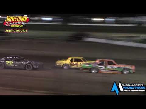Jamestown Speedway Bomber A-Main (8/14/21) - dirt track racing video image