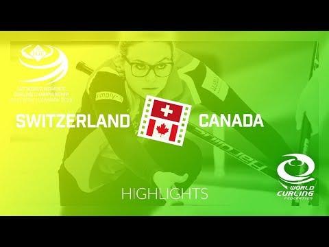 HIGHLIGHTS: Switzerland v Canada - round robin - LGT World Women's Curling Championship 2019