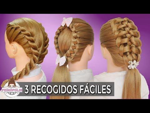 Youtube 3 Peinados Para Ninas Con Trenzas Faciles Y Rapidos De