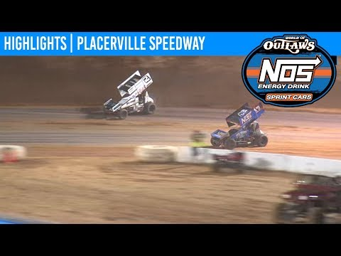 World of Outlaws NOS Energy Sprint Car Series Feature Event Highlights from Placerville Speedway in Placerville, California on September 11th, 2019. To view the full race, visit DIRTVision.com. - dirt track racing video image