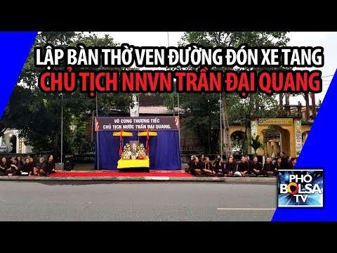 Sư sãi, phật tử lập bàn thờ ven đường đón xe tang Chủ tịch NNVN Trần Đại Quang