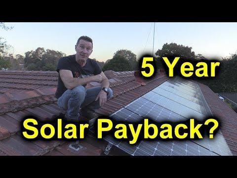 EEVblog #1086 - 5 Year Solar Power Results - Payback? - UC2DjFE7Xf11URZqWBigcVOQ