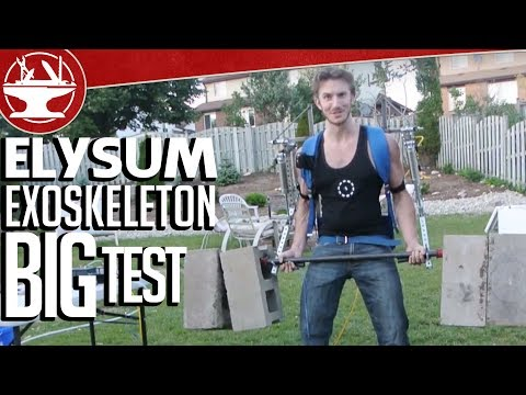 Make it Real: Elysium Exoskeleton -- the Big Test, 170LB Barbell Curl (Part 16) - UCjgpFI5dU-D1-kh9H1muoxQ