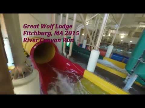 Great Wolf Lodge Indoor Waterpark - River Canyon Run and Wolf Tail - GoPro Hero 4