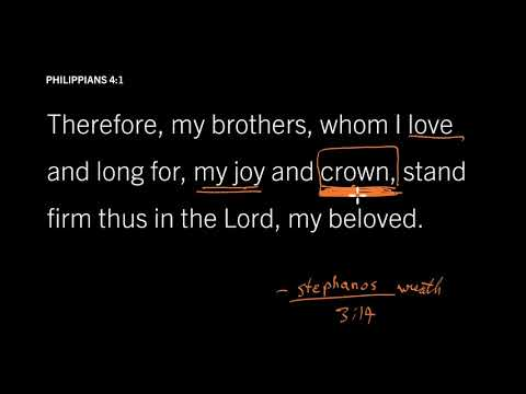 Philippians 4:1 // What Crown Will Christians Receive? // Rejoice in the Lord Always