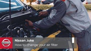 Sostituzione filtro aria Nissan Juke