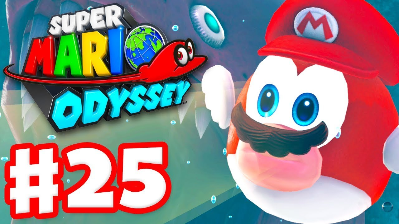 Super Mario Odyssey - Gameplay Walkthrough Part 25 - Swimmin' with