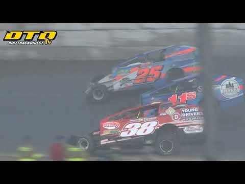 Ransomville Speedway | DIRTcar 358-Modified Feature Highlights | 7/2/21 - dirt track racing video image