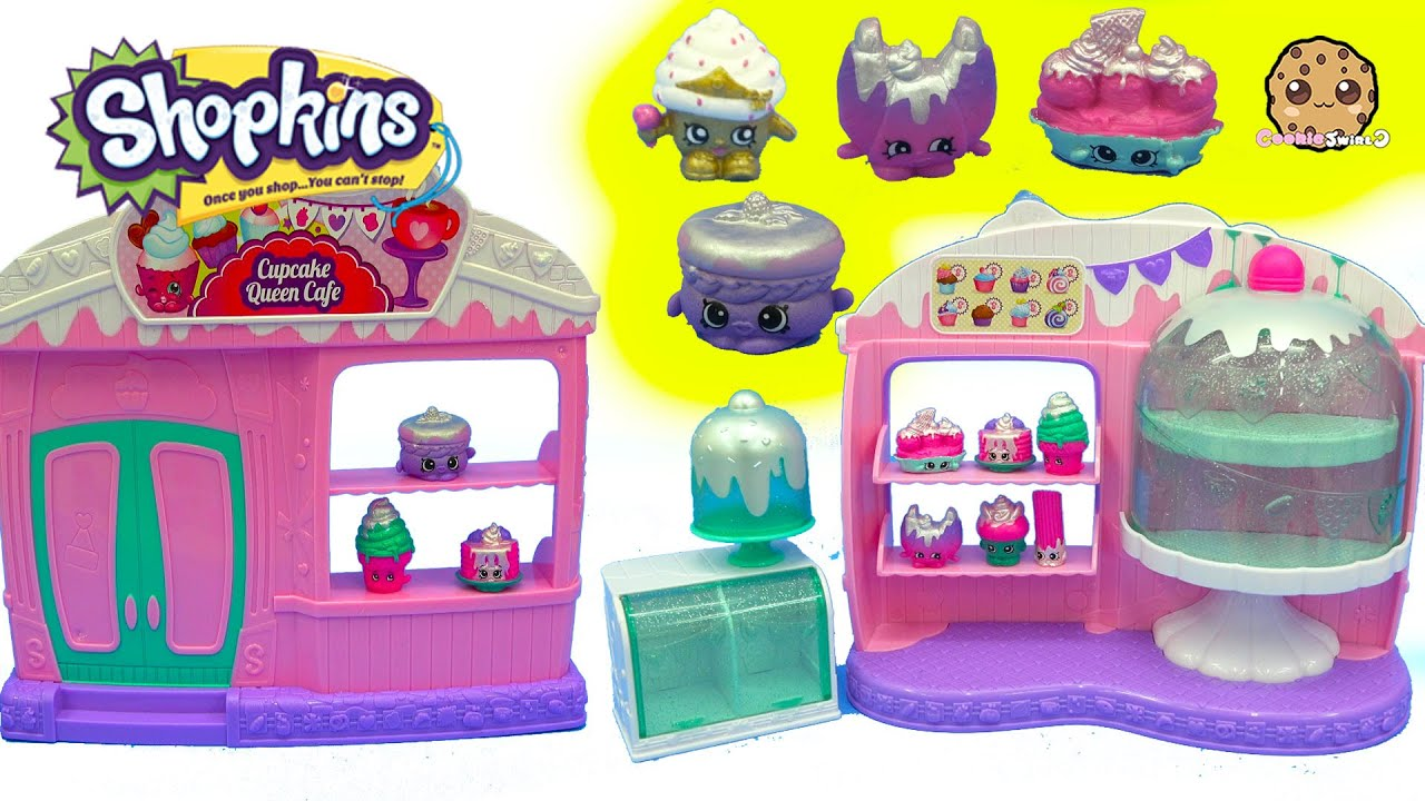 Season 5 Frosted Cupcake Queen Cafe Playset With 8 Exclusive Shopkins Surprise Blind Bags