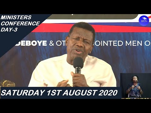PASTOR E.A ADEBOYE TEACHING  DAY 3 RCCG MINISTERS CONFERENCE