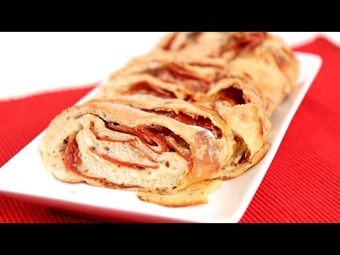 Homemade Pepperoni Bread Recipe - Laura Vitale - Laura in the Kitchen Episode 723 - UCNbngWUqL2eqRw12yAwcICg