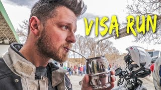 Crossing border into ARGENTINA. Motorbike Around the World - ep61