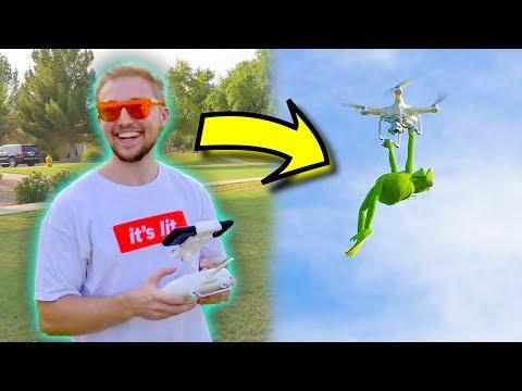 Kermit The Frog CRASHES Expensive Drone!! - UCKOui94KJ58vez5P8F7VDMA