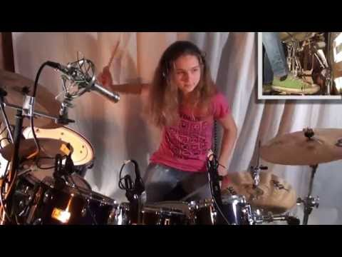 Jump (Van Halen), drum cover by a 14 year old girl - UCGn3-2LtsXHgtBIdl2Loozw