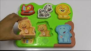 Fisher Price Laugh & Learn Zoo Animal Puzzle - FUN LEARNING PUZZLES FOR TODDLERS