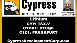 Cypress CEO Discusses Lilac Solutions News Release. Bill Willoughby (CYP:TSX.V)