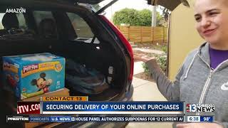 Securing delivery of online packages
