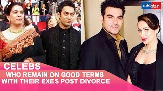 Celebrities Who Remain On Good Terms With Their Exes Post Divorce | Hrithik-Sussane | Malaika-Arbaaz