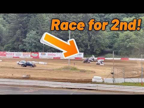 Tanner Holmes 5TH TO 2ND Heat Race At Coos Bay Speedway! (360 Sprint Car) - dirt track racing video image