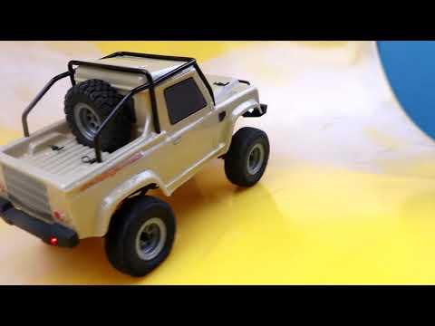 HobbyPlus 1/24 Defender Pickup 4WD Mini Scale Crawler Truck ARTR w/ Metal Cage & LED Light - UCflWqtsSSiouOGhUabhKTYA