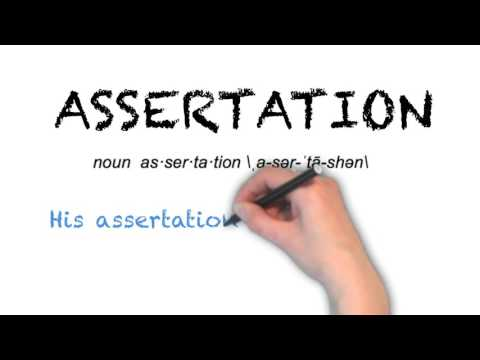 How to Pronounce 'ASSERTATION'- English Grammar