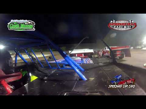 #67 Jimmy Vanzandt - Cash Money Late Model - 8-14-2021 Springfield Raceway - In Car Camera - dirt track racing video image