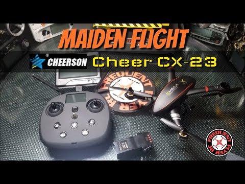 Cheerson Cheer CX-23 Maiden Flight Testing With Commentary - UCNUx9bQyEI0k6CQpo4TaNAw