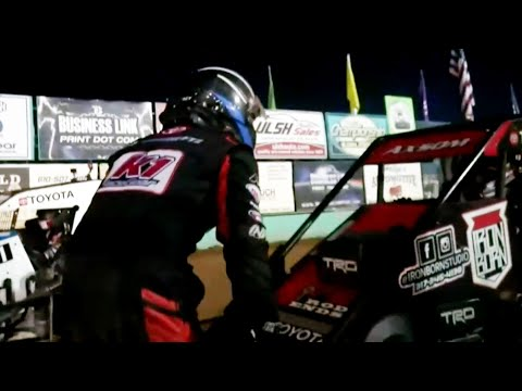 T-Mez Goes On The Hunt After Crash   USAC National Midgets at Action Track USA - dirt track racing video image