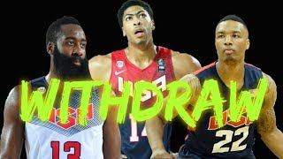 USA Basketball Players who withdraw to participate in FIBA World Cup 2019 in China!! REASONS!!