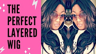 $37 PERFECT LAYERED WIG- SYNTHETIC LACE FRONT WIG- GIANNA #4- UNBOXING, CUSTOMIZING, AND REVIEWING