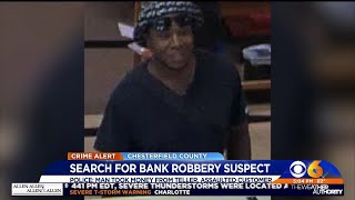 Suspect attacks customer during Chesterfield bank robbery