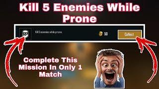 Kill 5 Enemies While Prone Mission Pubg Mobile Mission