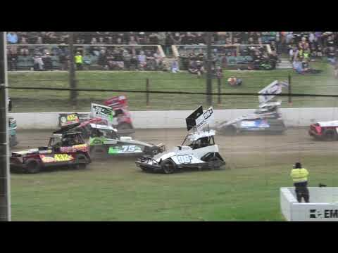Superstocks Tier 2 Race 1 - dirt track racing video image