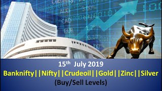 (DSM) 15 July Trading Levels Banknifty|Nifty|commodities