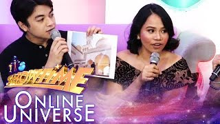 Defending champion Charisma Manua reacts after winning the golden mic | Showtime Online Universe