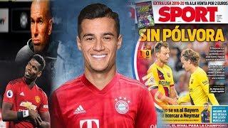 MC Coutinho oo Bayern ku biiray Soo laabshada Neymar Jabkii Barca & Pogba kulamada maanta