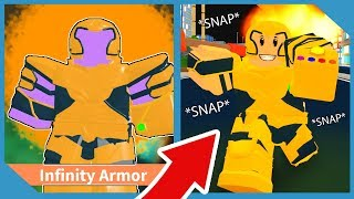 Buying The Infinity Gauntlet Armor In Roblox Superpower City