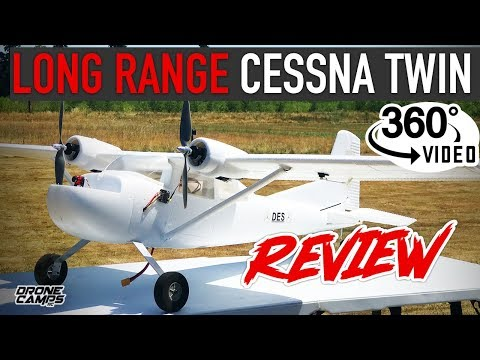 LONG RANGE FPV PLANE - E-DO Cessna Twin 1600mm - REVIEW, FPV, GoPro, & 360º Video - UCwojJxGQ0SNeVV09mKlnonA