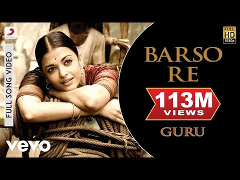 Barso Re - Guru | Aishwarya Rai Bachchan | Shreya Ghoshal - UC3MLnJtqc_phABBriLRhtgQ