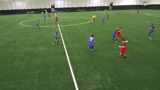 Football friendly featuring the future stars