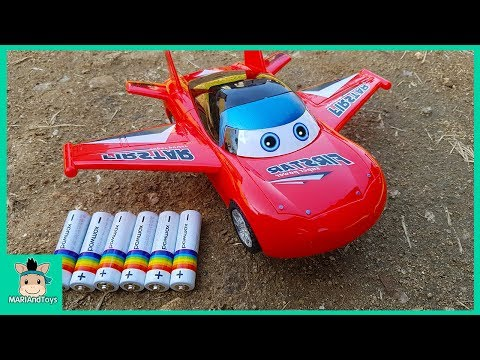 Assembling Mcqueen Toys Disney Cars 3 for Kids. Police car, Helicopter, Airplane play   MariAndToys