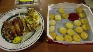 Chop House Jalapeno Cheddar Chicken Sausage & Ore-ida Crispy Crowns (Dollar Tree Review X 2)