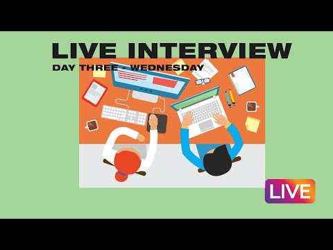Internship Live Stream  Day Three