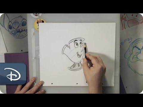 How-To Draw Chip From 'Beauty & The Beast' | Disney Parks - UC1xwwLwm6WSMbUn_Tp597hQ