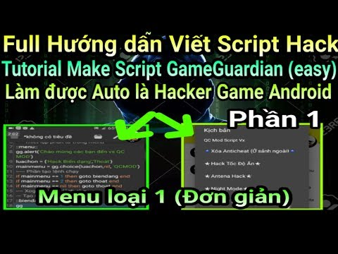 Hướng dẫn tự viết Script GameGuardian - How to make Script