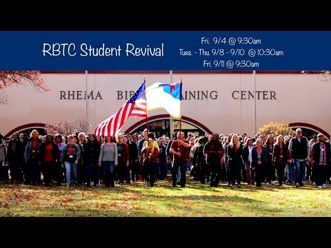 09.10.20    Thu. 10:30am    Rev. Bill Ray  RBTC Student Revival