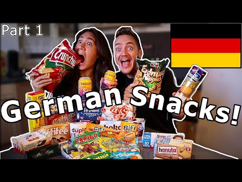 American Girlfriend Tries GERMAN SNACKS & CANDY! (Part 1) - UCmo1Cve3yYaWkQPvpUB1JIw