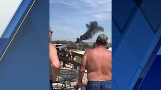 Video shows fiery aftermath of deadly New Orleans East plane crash
