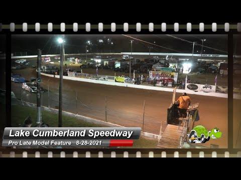Lake Cumberland Speedway - Pro Late Models - 8/28/2021 - dirt track racing video image