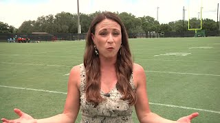 8 On Your Side's Gabrielle Shirley visits USF for the first day of fall football camp